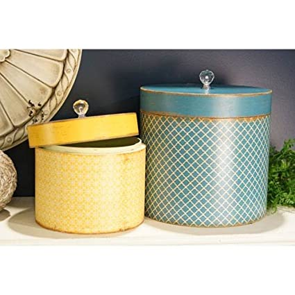 Amazoncom Vip International Round Hat Box Set Of 2 Home Kitchen