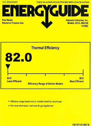 Hayward H100IDP1 H-Series Low NOx 100,000 BTU Propane Gas Residential Pool and Spa Heater