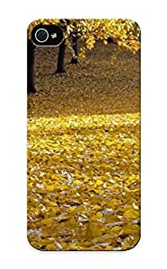 Inthebeauty High Quality Shock Absorbing Case For Iphone 5/5s-landscapes Nature Trees Autumn Leaves Land Fallen Leaves