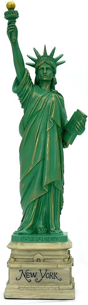 City-Souvenirs Statue of Liberty Statue Home Decor 15 Inch Resin Heritage Replica Statues