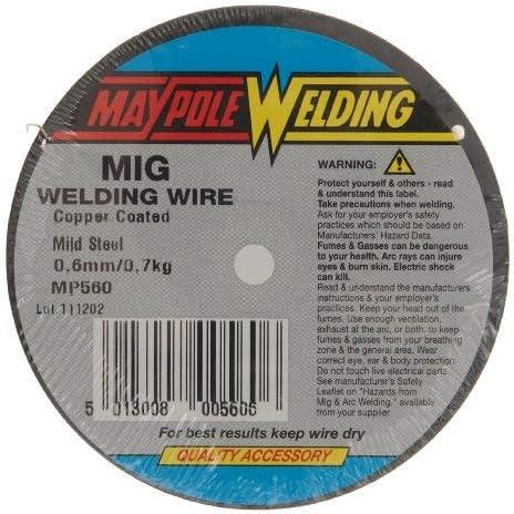 Maypole 560 - Hilo MIG para Soldadura (0,7 kg, 0,6 mm)