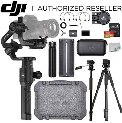DJI Ronin-S Handheld 3-Axis Gimbal Stabilizer with All-in-one Control for DSLR and Mirrorless Cameras On-The- Go Bundle - CP.ZM.00000103.02