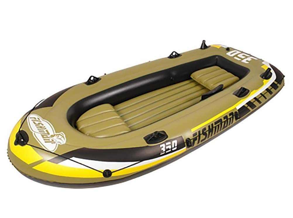 2-Person Inflatable Boat Set with Oars and Air Pump by POTA