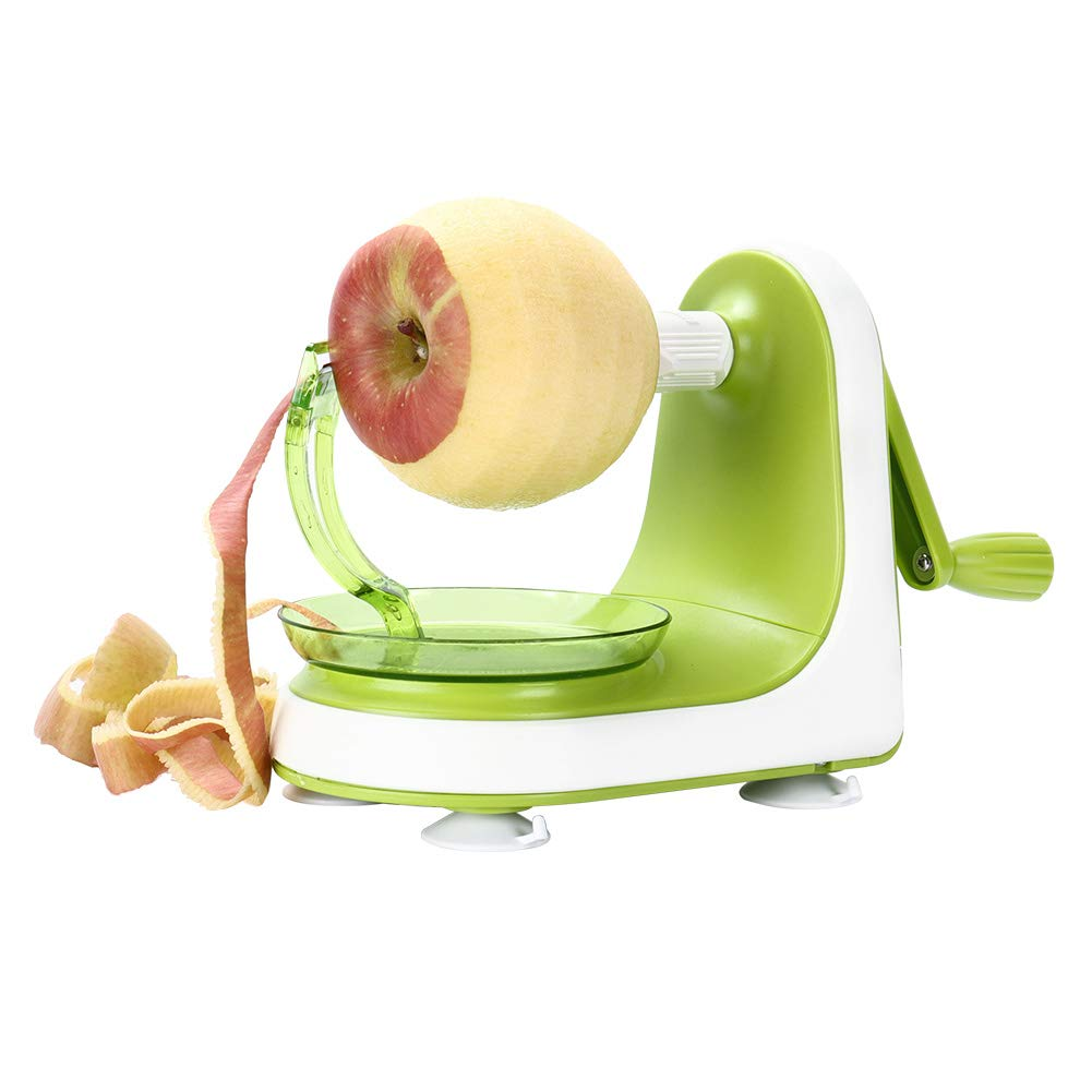 Valuetools Manual Apple Peeler Slicer – Suction Non Slip Counter Grips - Automatic Hand Crank - Replaceable Stainless Steel Blades with Protect Cover
