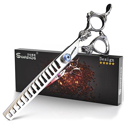 SHARONDS - Tijeras de peluquería profesionales de 7 pulgadas, tijeras de corte y entrelazado avanzadas, alta calidad: Amazon.es: Belleza
