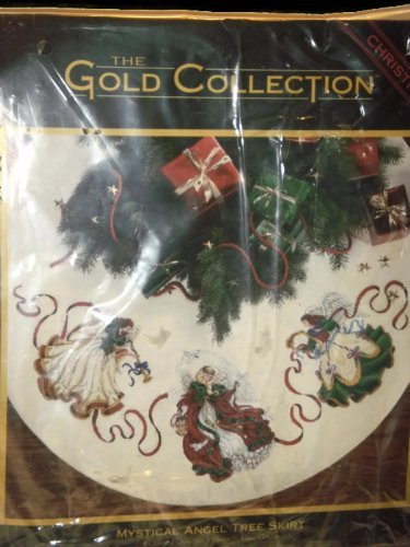 Christmas Counted Cross Stitch Tree Skirt the Gold Collection Mystical Angel Tree Skirt