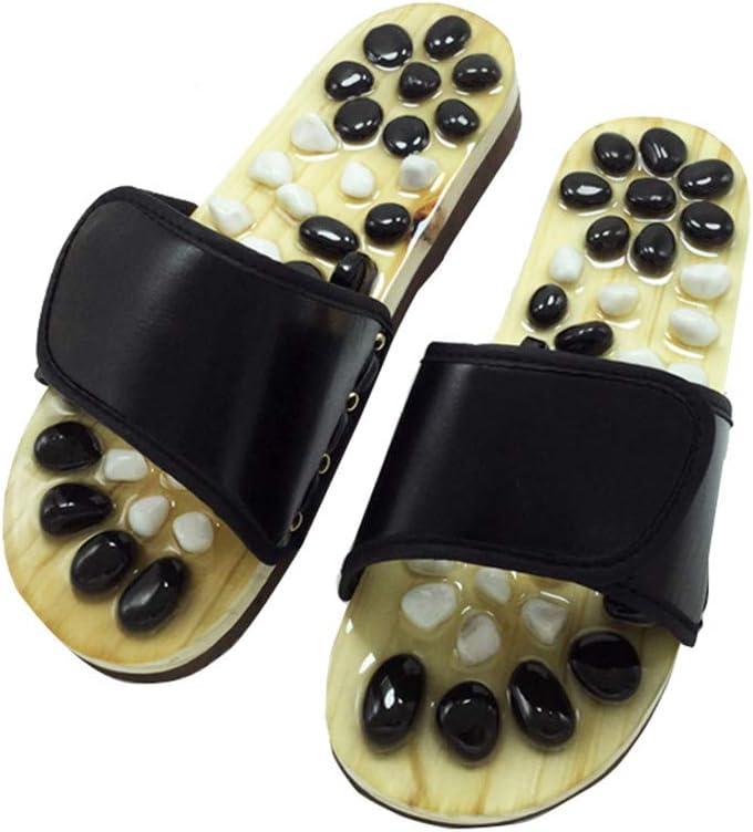 YLOVOW Plantar Zapatos de Masaje de Punto de acupuntura Zapatillas de Masaje de adoquines Naturales Zapatillas Amantes de casa Zapatillas de Verano Punto de acupuntura: Amazon.es: Deportes y aire libre