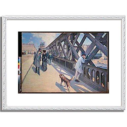 ギュスターヴカイユボット Gustave Caillebotte「ヨーロッパ橋 The Europe Bridge. 1876 」 インテリア アート 絵画 プリント 額装作品 フレーム:装飾(白) サイズ:S (221mm X 272mm) B00NKRP60E 1.S (221mm X 272mm)|6.フレーム:装飾(白) 6.フレーム:装飾(白) 1.S (221mm X 272mm)