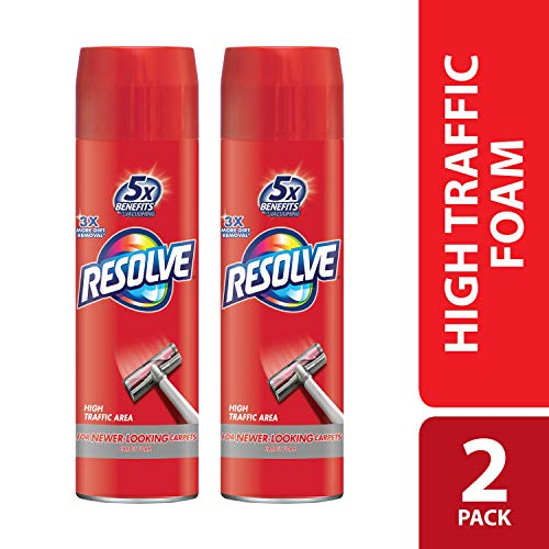 (Resolve Dual Pack High Traffic Carpet Foam, 44 oz (2 Cans x 22 oz), Cleans Freshens Softens & Removes Stains)