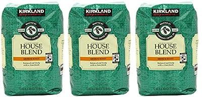 Kirkland Signature Starbucks Bean Coffee Medium Roast House Blend (3 Bags)