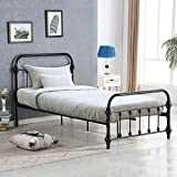 Giantex Twin Size Bed Frame Wood Slats Support Platform with Headboard Footboard Furniture