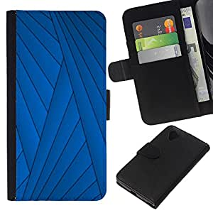 WINCASE Cuadro Funda Voltear Cuero Ranura Tarjetas TPU Carcasas Protectora Cover Case Para LG Nexus 5 D820 D821 - líneas abstracta profunda oscuridad