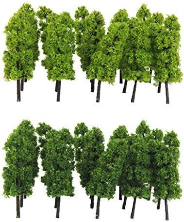 dailymall 約60本 情景コレクション 樹木 モデルツリー ツリー模型 箱庭 鉄道模型 建物模型 ジオラマ 教育 DIY