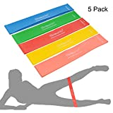Cheap Exercise Bands, 5 Set Strength/Resistance Exercise Loop Bands Workout Equipment. Each is 12″x2″(5.1cmx30.5cm). Tone Your Buttocks, Hips & Thighs. 5 Stretch Levels: Light-Medium-Heavy-X-Heavy-XX-Heavy