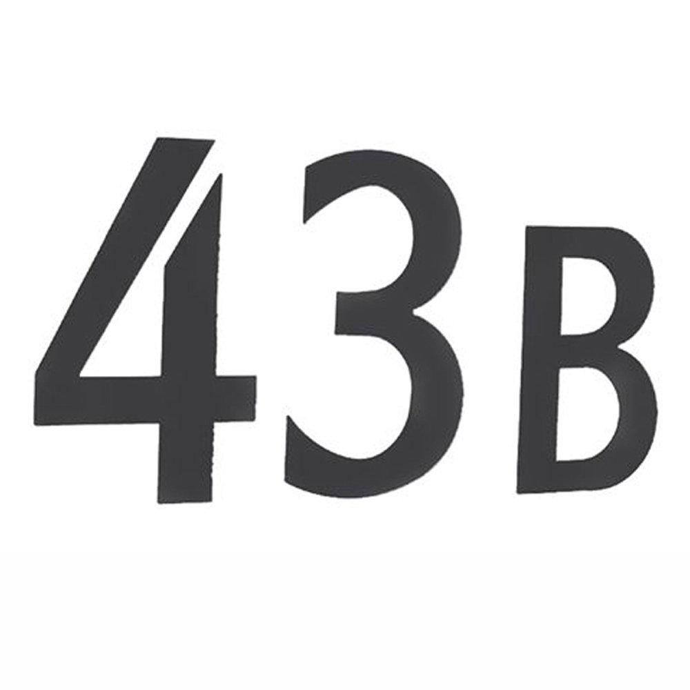 Beslagsboden BB985 Numéro de boîte aux lettres 5 autocollant en Acier Inoxydable Brossé Noir