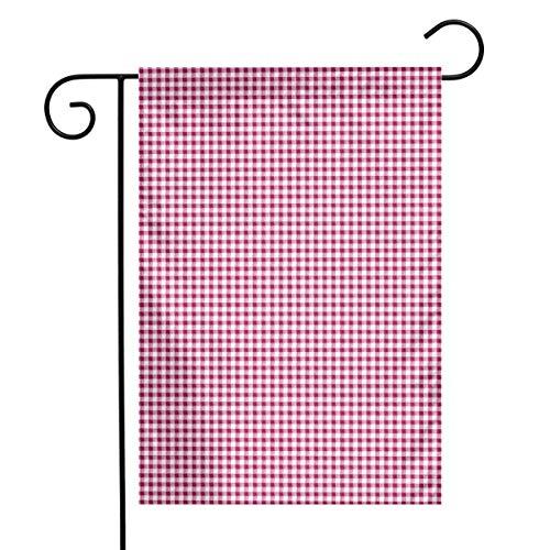 Life shop Gingham in Pink Art Garden Flag Yard Flag 12