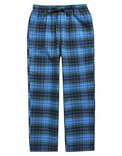 TINFL Big Boys Soft 100% Cotton Flannel Winter Lounge Pants BLP-SB034 Blue XL