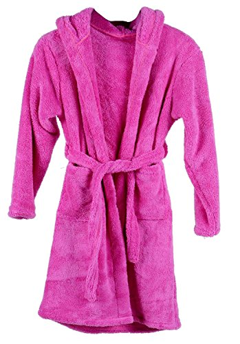 Children's Solid Color Outdoor Pool Coverup and Beach Coverup,Fuchsia,1-3 Years