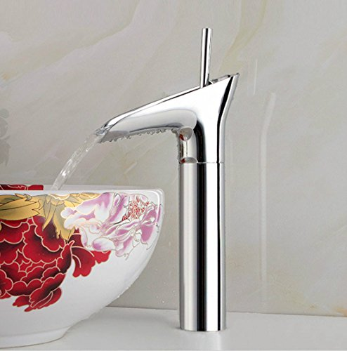 MDRW-Silver hot and cold water basin faucet, high-grade rotary all copper drinking water tap by MDRW