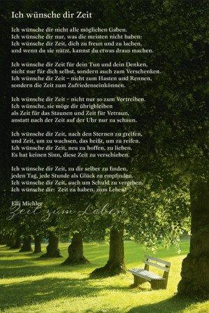 Gedicht zeit michler