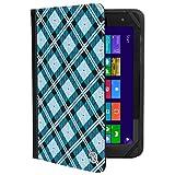 Verizon Tablet Portfolio Case Blue Checkers fits Verizon Wireless Ellipsis/Visual Land Prestige/Connect/Vulcan Cruiser/Journey/Challenger 8