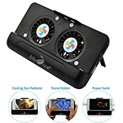 DescriptionFeatures: ★ Portable - Light & comfortable enough to hold and carry with you wherever you go ★ Cooling Fan Radiator -No worry overheating ★ Stand Holder - free your hand ★ Portable emergency Power Bank - No worry no enough elec...