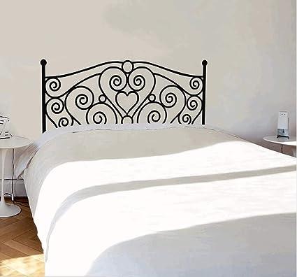 16907e6f66 Yirenfeng Morden Shabby Chic Testiera Decalcomania della parete Vinyl Art  Sticker Decalcomania da muro per letto matrimoniale Testiera Camera da letto  ...