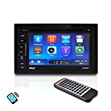 Pyle PLDN65BT 6.5-Inch Video Headunit Receiver Bluetooth Wireless Streaming CD/DVD Player Touch Screen Double DIN