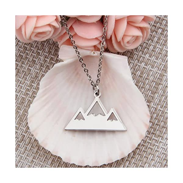Mountain Peak Necklace Snowy Peaks Jewelry Nature Outdoor Necklace
