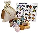 Mixed Rough Natural Stones Mix 1 Lb (.5 Kg) Bulk Reiki Chakra Healing