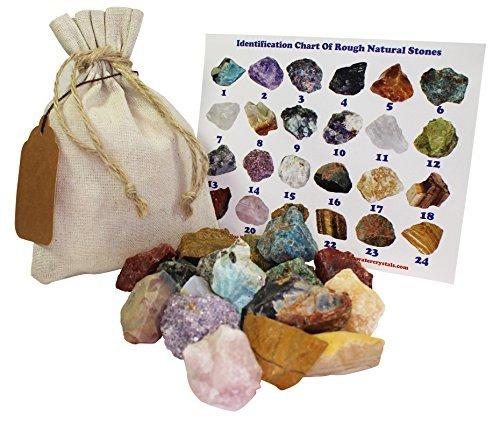- Mixed Rough Natural Stones Mix 1 Lb (.5 Kg) Bulk Reiki Chakra Healing Crystals Mineral Gemstone Specimens (Mixed)