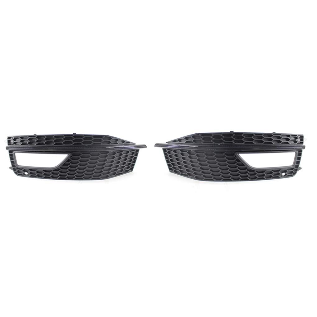 1 Pair Fog Light Lamp Cover Grille ABS Plastic Fog Light Lampshades for 2013-2015 A4 S-line S4 Zerama