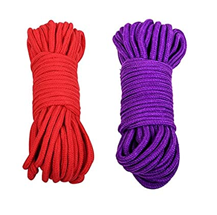 Soft Cotton Rope-32 Feet Length//10m Black-2 Durable Utility Long Rope