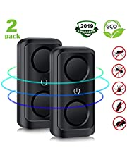 PAIPU Pest Repeller, 2-Pack Ultrasonic Pest Repeller Plug in Indoor Mosquito and Mouse Repellent Pest Control with Double Speakers Anti Insect Mosquitoe Spider Cockroach Flies Ants