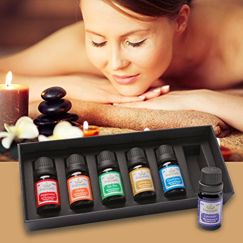 Premium Essential Oils Aromatherapy Gift Starter Set for Relaxation Better Sleep Focus and Natural Wellness. Enjoy Natural Remedies and Remove Chemicals Best Lavender Peppermint