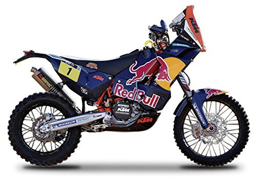 "KTM 450 Rally Dakar #1 ""Red Bull"" Motorcycle 1/18 by Bburago 51071"