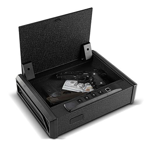 RPNB Gun Safe, Quick-Access Firearm Safety Device with Biometric Fingerprint Lock & Auto-Open Lid, Home & Personal Safe Series