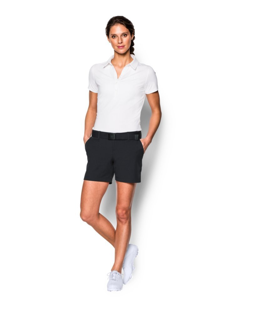 Under Armour Women's Links 5'' Shorty, Black/True Gray Heather, 14 by Under Armour (Image #3)