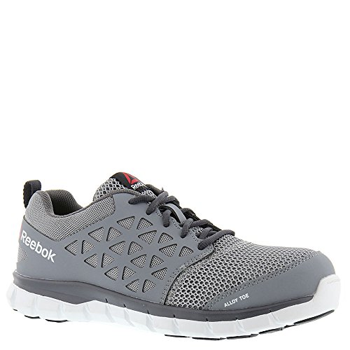 Reebok Men's Grey Sublite Cushion Work EH Alloy Safety Toe Athletic Oxford