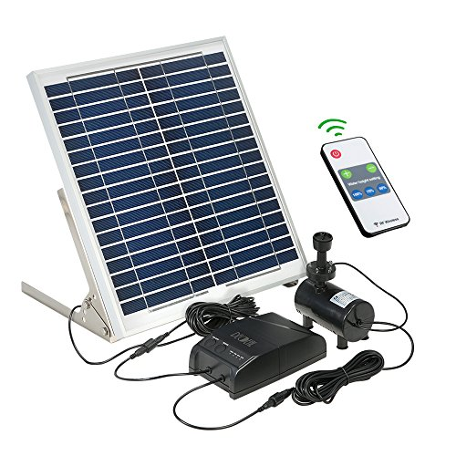 Decdeal Solar Power Fountain 15W Solar Panel + 3.6W Brushless Water Pump Kit with Remote Control by Decdeal