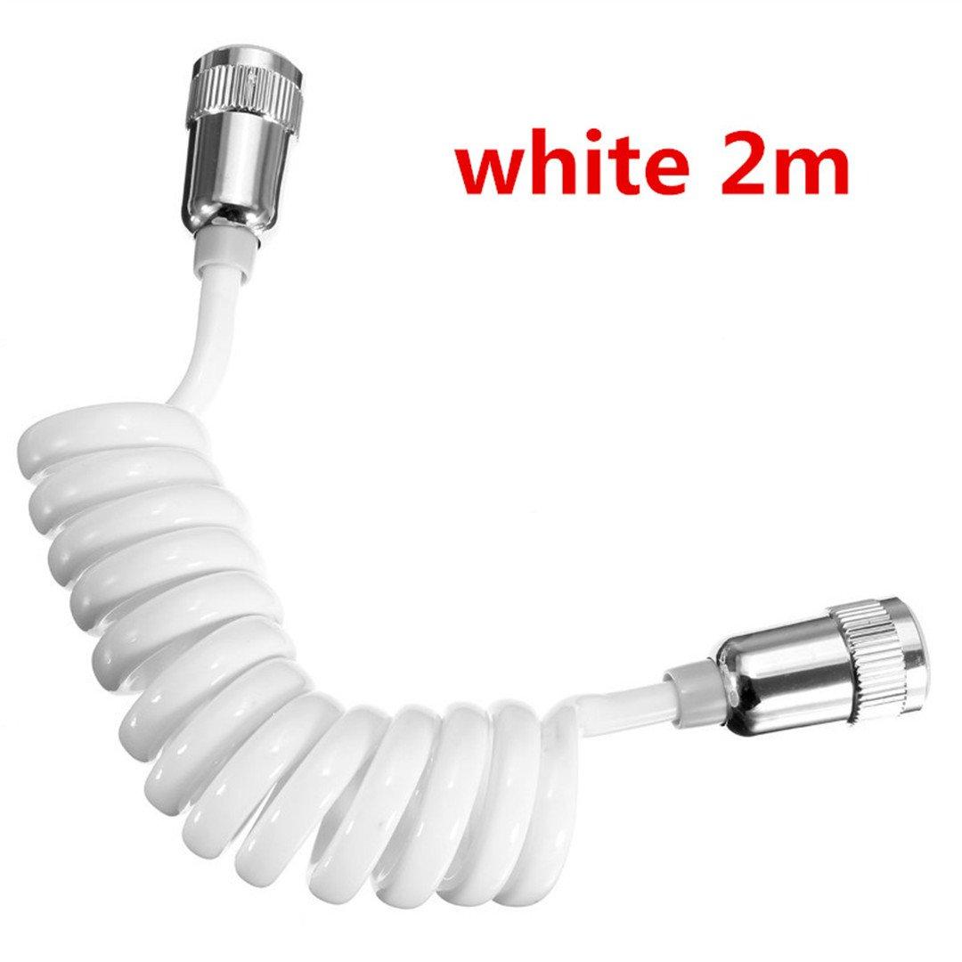 YU-Bathroom ABS Telephone Line Style Spring Flexible Shower Hose Water Plumbing Toilet Bidet Sprayer Gun Connect Pipe 200mm