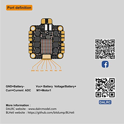 Wikiwand DALRC Rocket 45A 4 in 1 ESC Brushless 3-6S Blheli_32 LIHV DSHOT1200 for Drone by Wikiwand (Image #7)