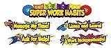 Carson Dellosa Super Power Super Work Habits Mini Bulletin Board Set (110315)
