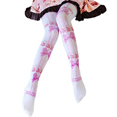 b898bb1273b Himifashion Cute Bow Strawberry Knee-High Socks Lolita Socks  Amazon.co.uk   Clothing