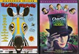 Charlie and the Chocolate Factory , Racing Stripes : Family Movie Night 2 Pack Collection