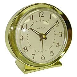 Clock Alarm Keywound Goldtone