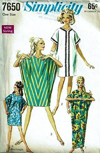 Simplicity 7650 Vintage Misses Kite Dress, Three Lengths Sewing Pattern, One Size ()
