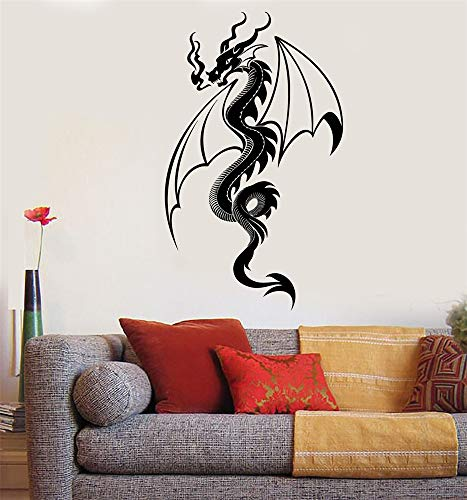 zdcvdv Vinyl Saying Lettering Wall Art Inspirational Sign Wall Quote Decor Fire Breathing Dragon Fantasy Fairy Tale
