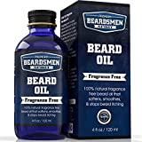 Beard Oil and Conditioner - Fragrance Free - Huge 4 oz Bottle - 100% Natural - Softens Your Beard and Stops Itching - With Five Nourishing All Natural Oils Including Argan Oil and Jojoba Oil!