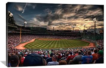 Fenway Park at Sunset 24 x 16 Gallery Wrapped Canvas Wall Art